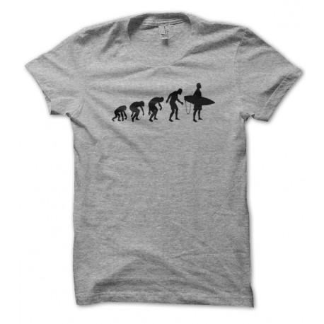T-shirt Evolution de l'homme en Surfer