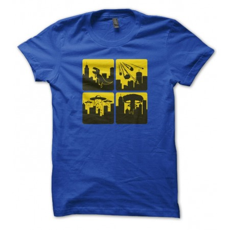 T-shirt End of World ( T-Geek: Godzilla, Météorites, Alien, Atomique, choisi ta fin... )