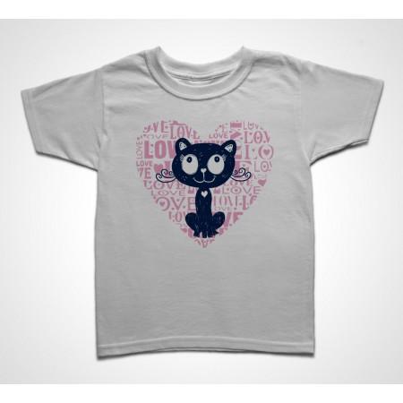 Tee shirt Enfant Love Cat