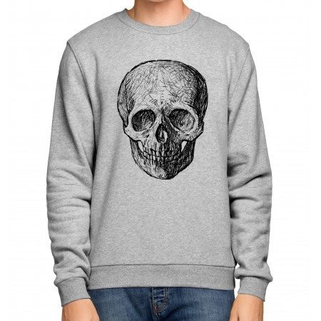 Sweat Shirt Tête de Mort stencil