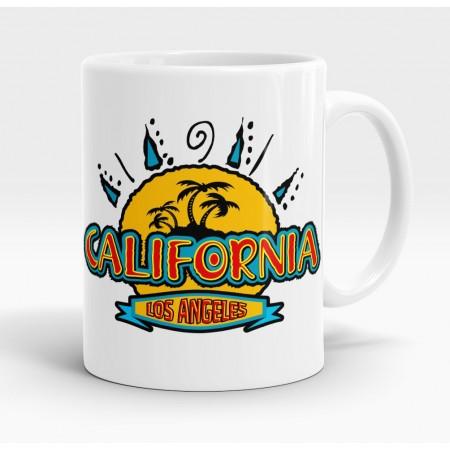 Mug blanc, Sunny California Los Angeles