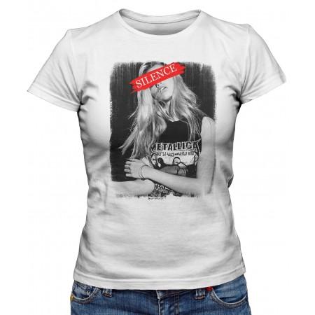 T-shirt Femme Metallica Silence