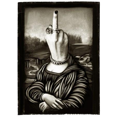 Tee Shirt Humoristique, parodie La Joconde Mona Lisa