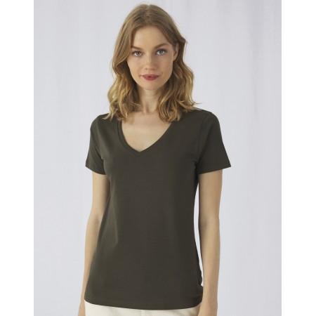 B&C T-Shirt Femme BIO col V Inspire