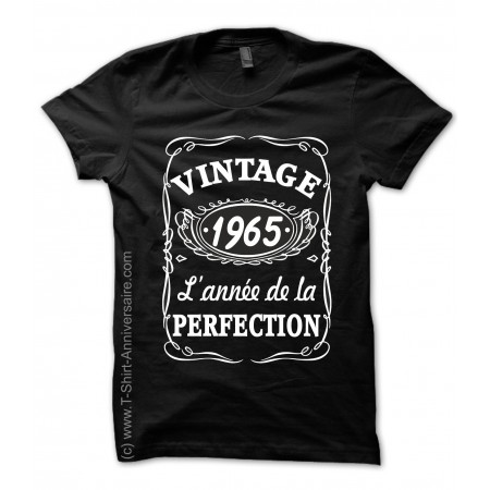 T-shirts 1965 Anniversaire style Whisky