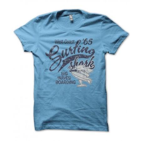 T-shirt Surfing ' Shark West Coast
