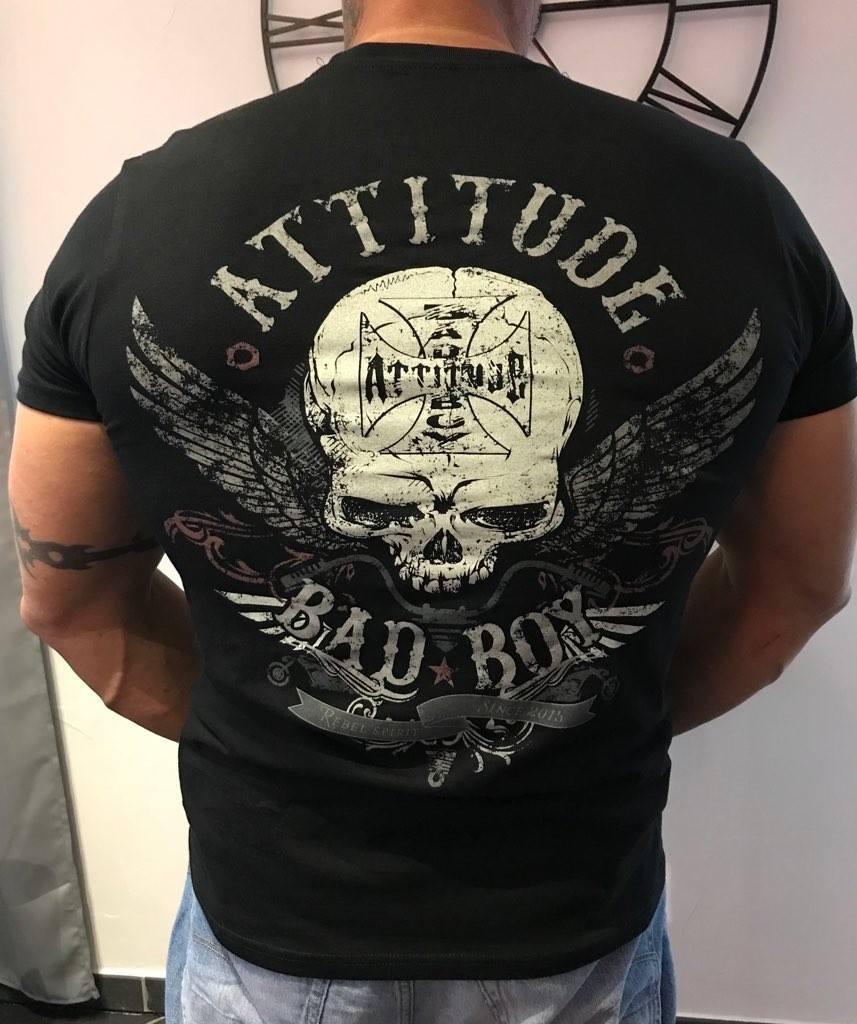 moto biker attitude bad boy serigraphie tee shirt
