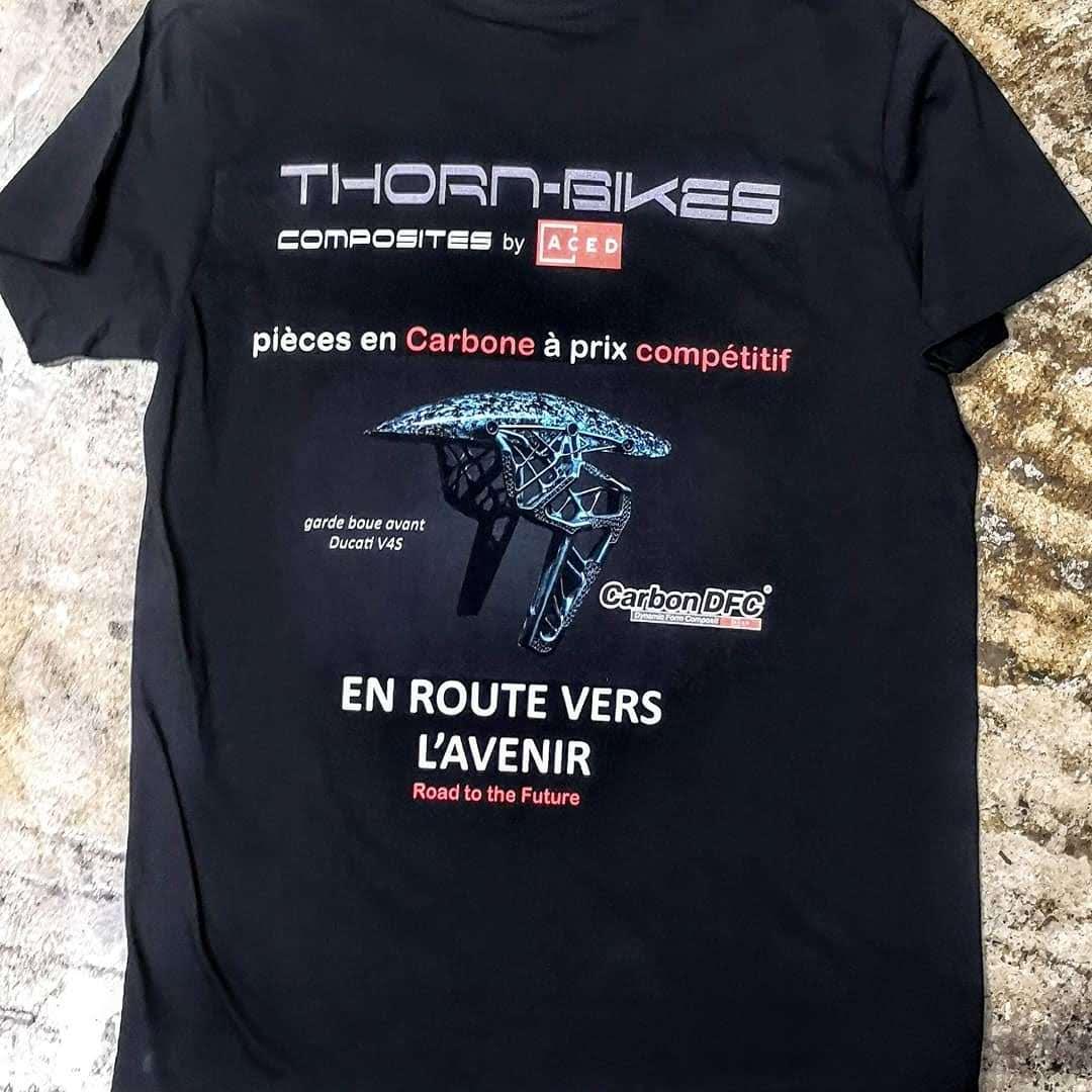 Serigraphie thornbike moto t shirt